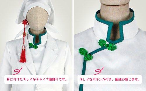 他の写真2: 鬼灯の冷徹 白澤 白衣(ノーマル)衣装  修正版(袖口浅紫、ズボン裾浅紫)  4月26日再修正版