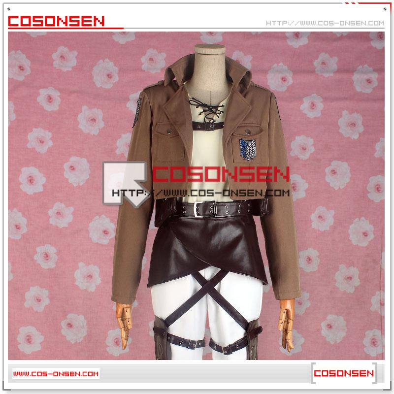進撃の巨人 調査兵団 エレン・イェーガー 団服  刺繍版 コスプレ衣装  修正版