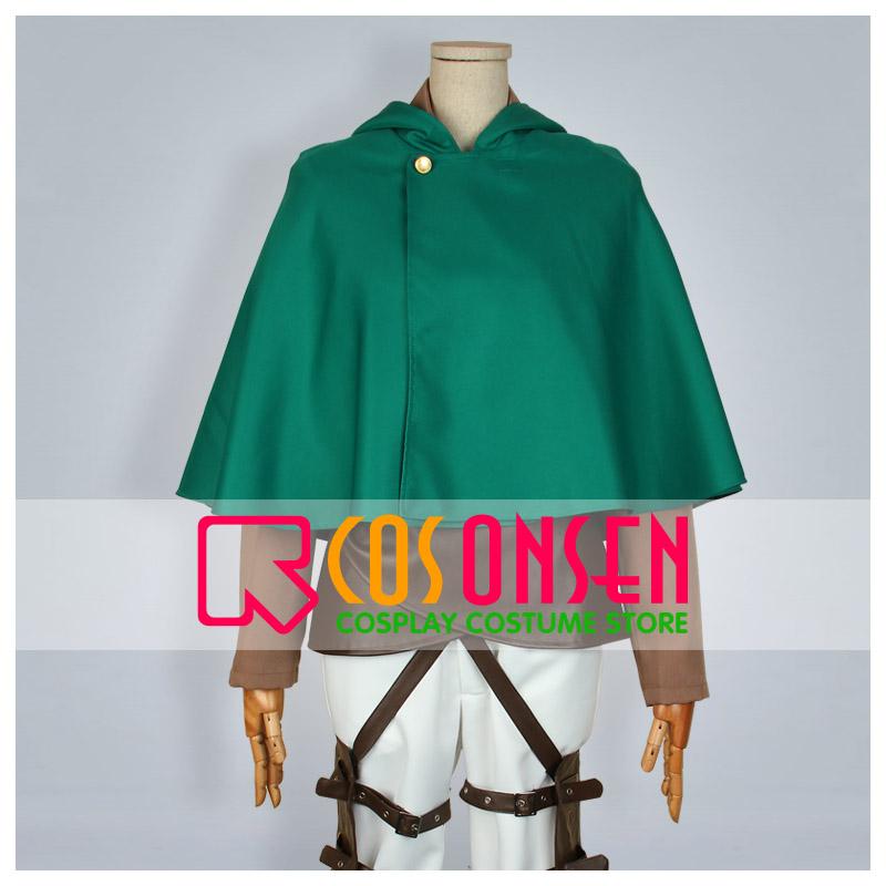 進撃の巨人 調査兵団 マント付き 刺繍版  コスプレ衣装